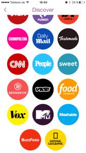 Snapchat Medienangebot