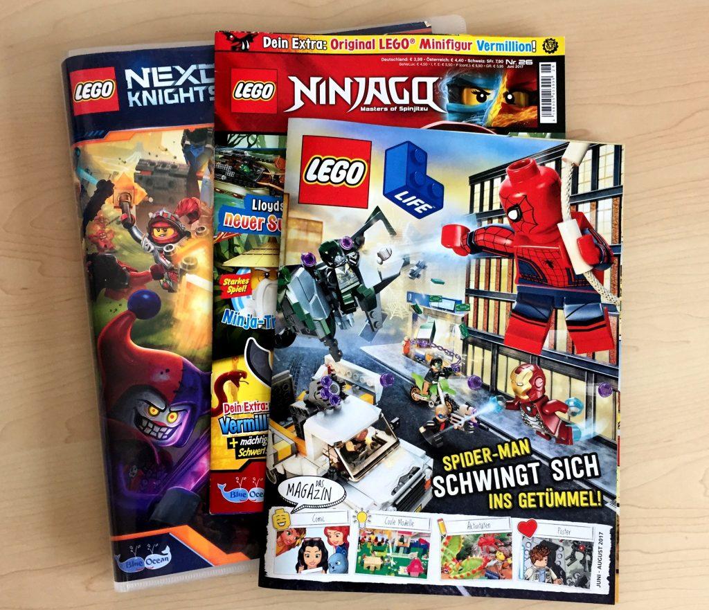 LEGO Magazine und Sammelkarten