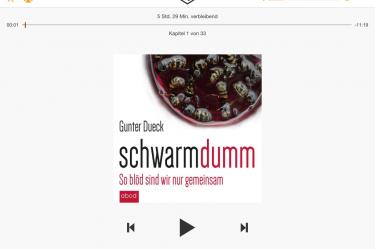 Hier findest Du eine Abbildung des Hörbuch Schwarmdumm von Gunter Dueck