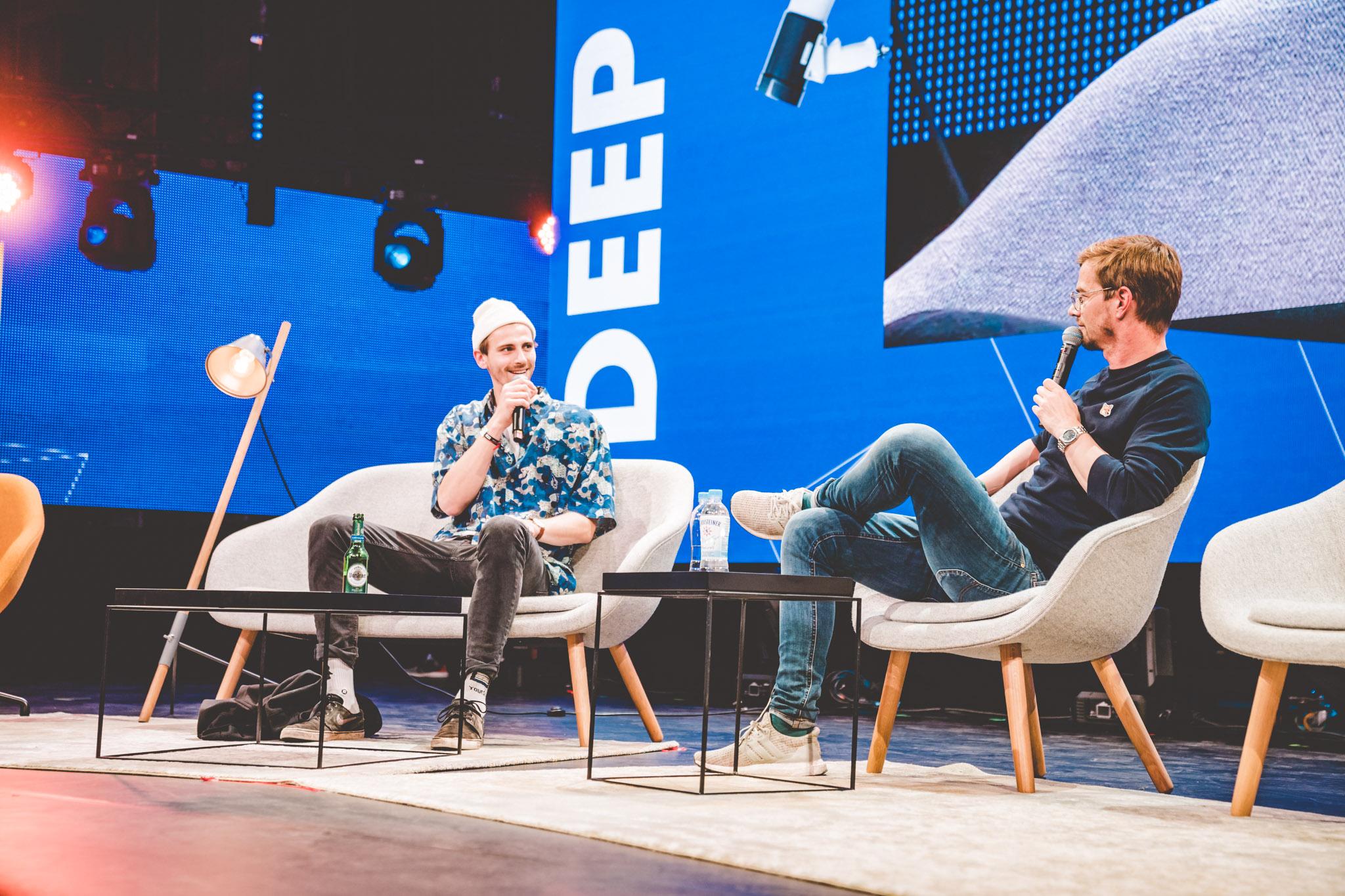 Interview auf der Deep Dive Bühne